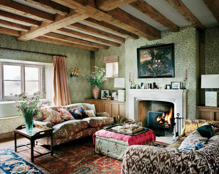 Vogue Asked A Number Of Interior Designers For Their 2018 Design  Predictions And Chintz Topped The List Of Trends. I Guess I Should Hold Off  Repainting My ...